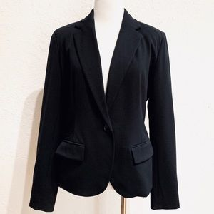 Merona Black Career Work Wear Blazer Single Button